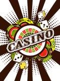Copie d'affiche de fond de casino illustration de vecteur