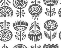 Copie d'art de fleur dans le style scandinave Dirigez la configuration sans joint Photo stock