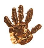 Copie de boue de main sur le blanc Image libre de droits