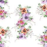 Copie de fleur d'aquarelle Photographie stock
