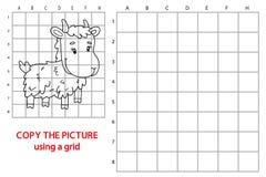 Copie de grille avec la chèvre de bande dessinée Photo libre de droits