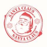 Copie de Noël avec le regard de Santa Claus avec le texte et les flocons de neige illustration libre de droits