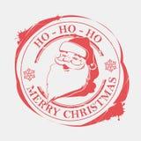 Copie de Noël avec les flocons de neige et la silhouette de Santa Claus, illustration libre de droits