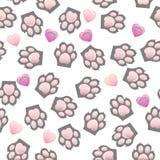 Copie de patte de chat et de chien avec des griffes illustration libre de droits