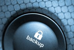 Copie de sauvegarde-bouton photographie stock libre de droits