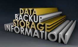 Copie de sauvegarde de données illustration stock