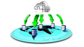 Copie de sauvegarde de nuage de base de données Images libres de droits