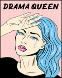 Copie de T-shirt de reine de drame d'illustration d'art de bruit illustration libre de droits