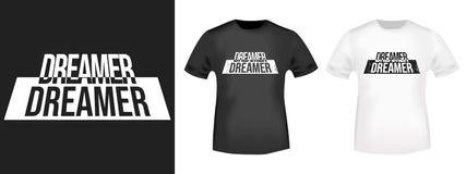 Copie de T-shirt de rêveur illustration stock
