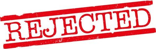 Copie de tampon en caoutchouc rejetée par rouge Images libres de droits