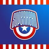 Copie de typographie de puissance de superhéros pleine, graphiques de T-shirt avec le lo illustration stock
