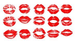 Copie des lèvres rouges Illustration de vecteur sur un fond blanc ENV illustration stock