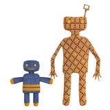 Copie di vecchi giocattoli meccanici dello stagno royalty illustrazione gratis