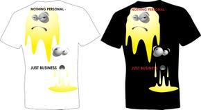 Copie drôle d'affaires blanches et noires de conception de T-shirt Photographie stock