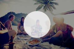 Copie el concepto del día de fiesta de las vacaciones de verano del marco del espacio Fotos de archivo