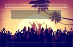 Copie el concepto del día de fiesta de las vacaciones de verano del marco del espacio Fotos de archivo libres de regalías