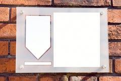 Copie el espacio en la pared de ladrillo Imagenes de archivo