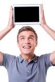 Copie el espacio en su tableta Imagen de archivo