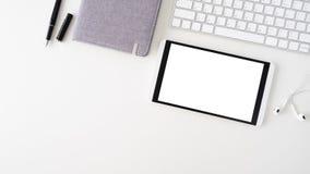 Copie el topview del espacio de la tabla de trabajo del negocio Fotografía de archivo libre de regalías