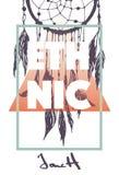 Copie ethnique avec le slogan Photos stock