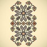 Copie florale élégante de décoration de frontière de vintage d'arabesque pour le DES Photographie stock