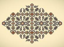Copie florale élégante de décoration de frontière de vintage d'arabesque pour le DES Image stock