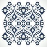Copie florale élégante de décoration de frontière fleurie de vintage d'arabesque Images libres de droits