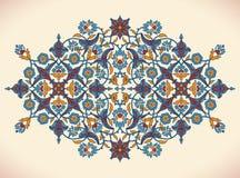 Copie florale élégante de décoration de vintage d'arabesque pour le tem de conception Images stock