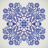 Copie florale élégante de décoration de vintage d'arabesque pour le tem de conception Photographie stock