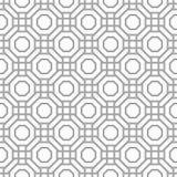 Copie géométrique grise sur le fond blanc Configuration sans joint Images libres de droits