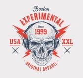 Copie grunge de crâne Image libre de droits