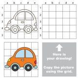 Copie a imagem usando a grade Carro Imagem de Stock Royalty Free