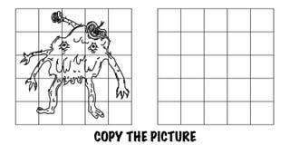 Copie la imagen Monstruo extranjero loco de 3 brazos stock de ilustración