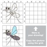 Copie la imagen usando rejilla mosquito Imagenes de archivo