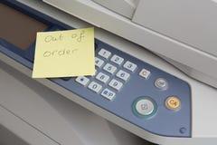 Copie la máquina fuera de servicio Fotografía de archivo libre de regalías