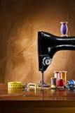 Copie la opinión del espacio sobre los accesorios de costura Fotografía de archivo libre de regalías