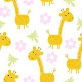 Copie mignonne de modèle de girafe pour des enfants Photos libres de droits