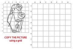 Copie o carro da imagem da grade Foto de Stock Royalty Free