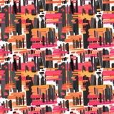 Copie sans couture de modèle de textile Expressif à la mode de mode illustration libre de droits