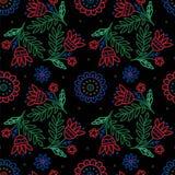Copie tribale Origine ethnique Configuration florale Papier peint de vecteur illustration stock