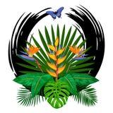 Copie tropicale de bouquet illustration de vecteur