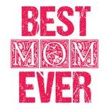 Copie typographique ou design de carte de cru de jour de mères illustration libre de droits