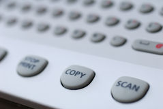 Copier. Button copy and scan, fax, copy, printer Royalty Free Stock Photography