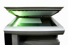 Copier with light and paper Stock Photo