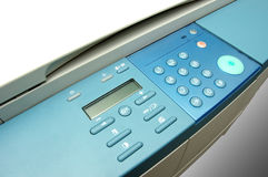 Copier photo top view. Modern copier, top view. Management buttons Royalty Free Stock Images