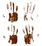 Copies de paume de main de peinture à l'huile images libres de droits