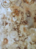 Copies de rouille des écrous et des vis Texture dans la couleur brune Image stock