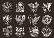 Copies monochromes de moto de cru illustration stock