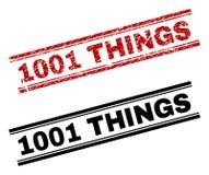 1001 copies texturisées et propres grunges de timbre de CHOSES Illustration de Vecteur