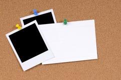 Copies vides de photo avec la fiche Image stock